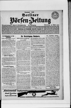 Berliner Börsen-Zeitung vom 25.03.1924
