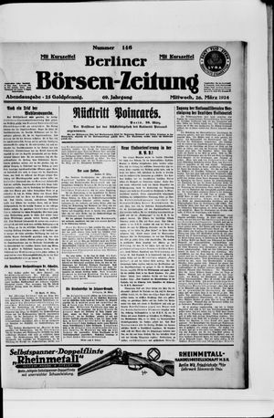 Berliner Börsen-Zeitung vom 26.03.1924