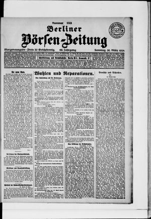 Berliner Börsen-Zeitung vom 30.03.1924