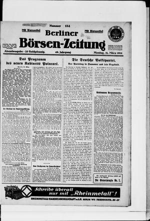 Berliner Börsen-Zeitung vom 31.03.1924