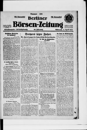Berliner Börsen-Zeitung vom 02.04.1924