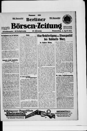 Berliner Börsen-Zeitung vom 03.04.1924
