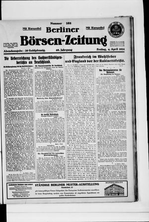 Berliner Börsen-Zeitung vom 04.04.1924