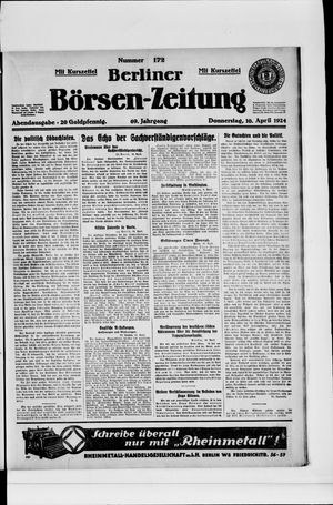 Berliner Börsen-Zeitung vom 10.04.1924