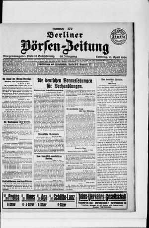 Berliner Börsen-Zeitung vom 13.04.1924