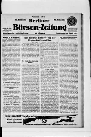 Berliner Börsen-Zeitung vom 17.04.1924