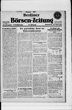 Berliner Börsen-Zeitung on Apr 19, 1924
