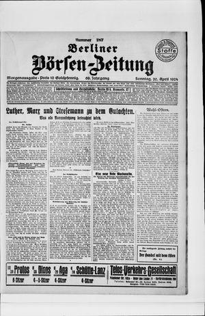 Berliner Börsen-Zeitung vom 20.04.1924