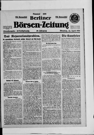 Berliner Börsen-Zeitung vom 22.04.1924