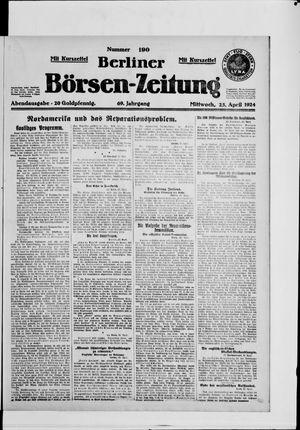 Berliner Börsen-Zeitung vom 23.04.1924
