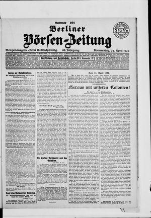 Berliner Börsen-Zeitung vom 24.04.1924