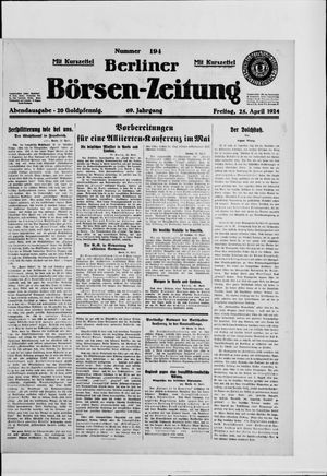 Berliner Börsen-Zeitung vom 25.04.1924