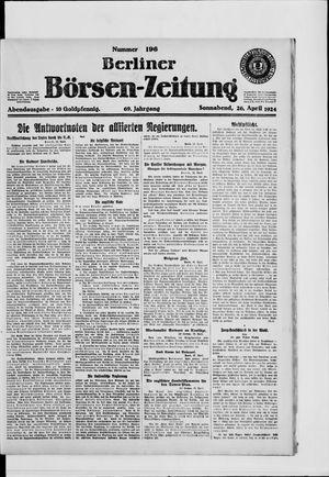 Berliner Börsen-Zeitung vom 26.04.1924