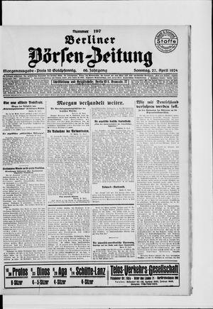 Berliner Börsen-Zeitung vom 27.04.1924