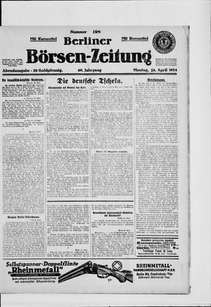Berliner Börsen-Zeitung vom 28.04.1924
