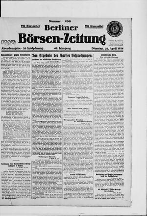 Berliner Börsen-Zeitung vom 29.04.1924