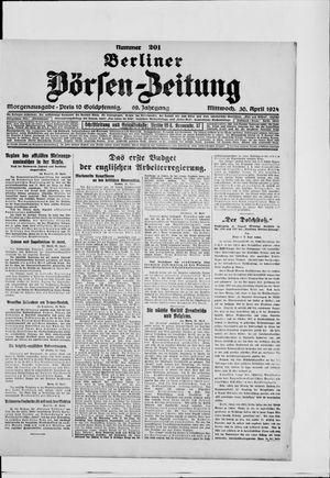 Berliner Börsen-Zeitung vom 30.04.1924