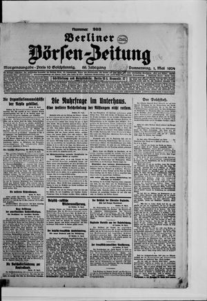 Berliner Börsen-Zeitung vom 01.05.1924