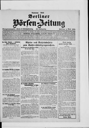 Berliner Börsen-Zeitung vom 02.05.1924