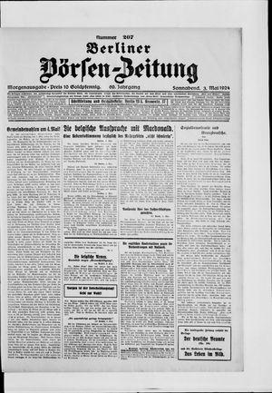 Berliner Börsen-Zeitung on May 3, 1924