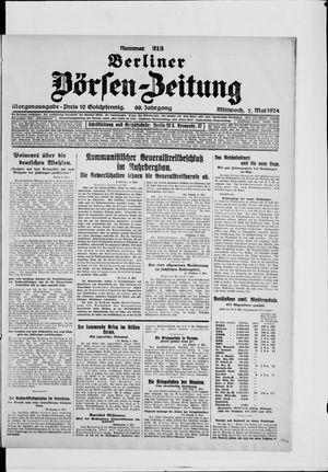 Berliner Börsen-Zeitung vom 07.05.1924