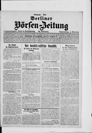 Berliner Börsen-Zeitung vom 08.05.1924