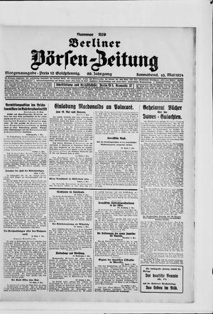Berliner Börsen-Zeitung vom 10.05.1924