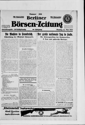 Berliner Börsen-Zeitung vom 12.05.1924