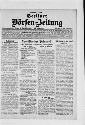 Berliner Börsen-Zeitung vom 13.05.1924