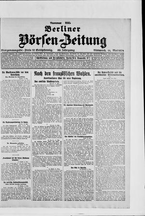 Berliner Börsen-Zeitung vom 14.05.1924