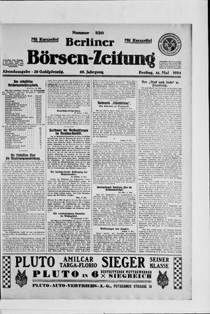 Berliner Börsen-Zeitung on May 16, 1924