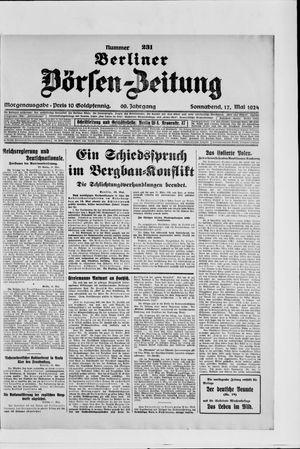 Berliner Börsen-Zeitung vom 17.05.1924