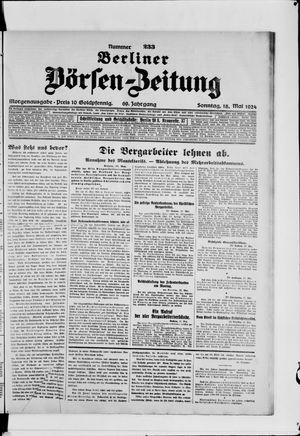 Berliner Börsen-Zeitung vom 18.05.1924