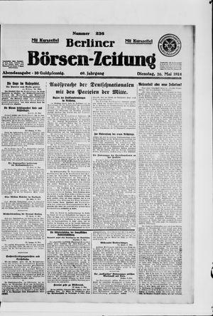 Berliner Börsen-Zeitung vom 20.05.1924