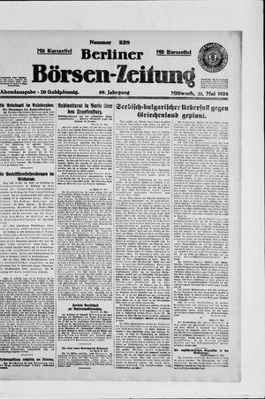 Berliner Börsen-Zeitung vom 21.05.1924