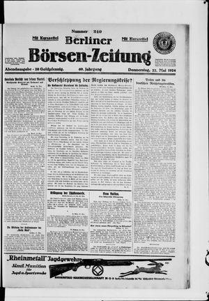 Berliner Börsen-Zeitung vom 22.05.1924