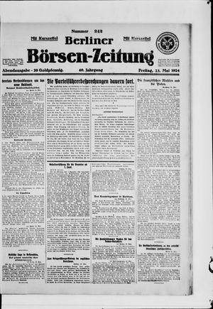 Berliner Börsen-Zeitung on May 23, 1924