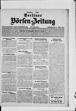 Berliner Börsen-Zeitung vom 24.05.1924