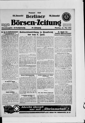 Berliner Börsen-Zeitung vom 26.05.1924