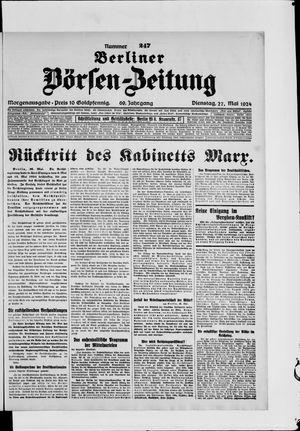 Berliner Börsen-Zeitung vom 27.05.1924