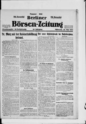 Berliner Börsen-Zeitung vom 28.05.1924