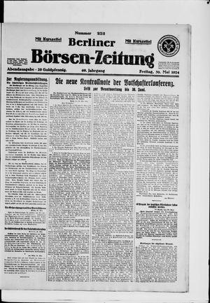 Berliner Börsen-Zeitung vom 30.05.1924