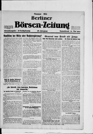 Berliner Börsen-Zeitung vom 31.05.1924