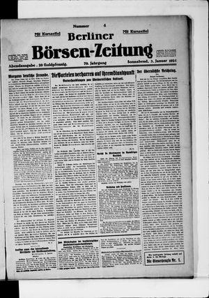 Berliner Börsen-Zeitung vom 03.01.1925