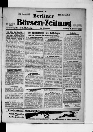 Berliner Börsen-Zeitung vom 05.01.1925