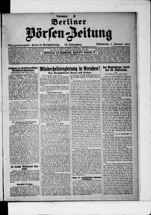 Berliner Börsen-Zeitung vom 07.01.1925