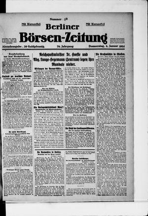 Berliner Börsen-Zeitung vom 08.01.1925