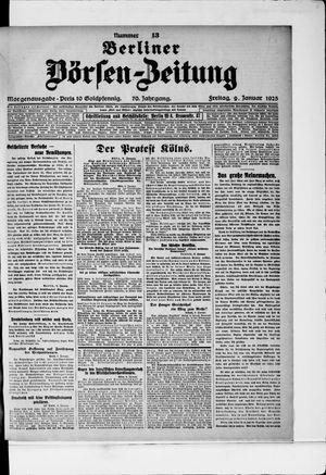 Berliner Börsen-Zeitung on Jan 9, 1925