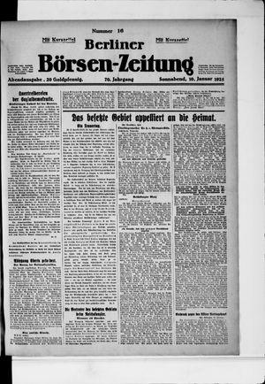 Berliner Börsen-Zeitung vom 10.01.1925