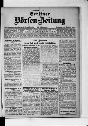 Berliner Börsen-Zeitung vom 11.01.1925